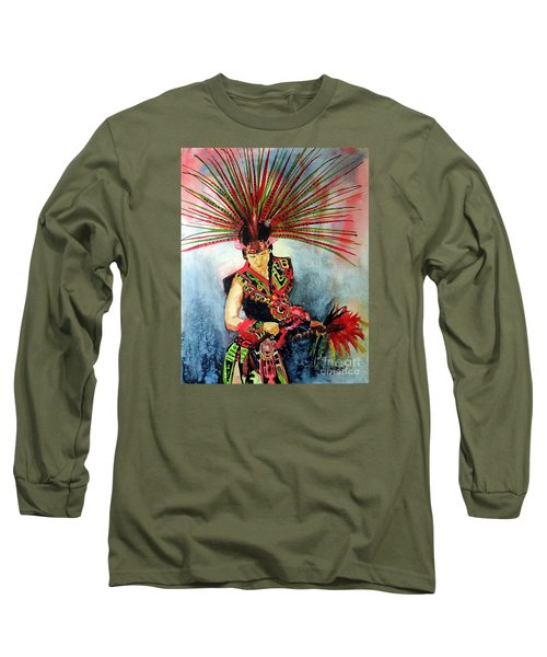 Native Dancer Long Sleeve T-Shirt by Tom Riggs