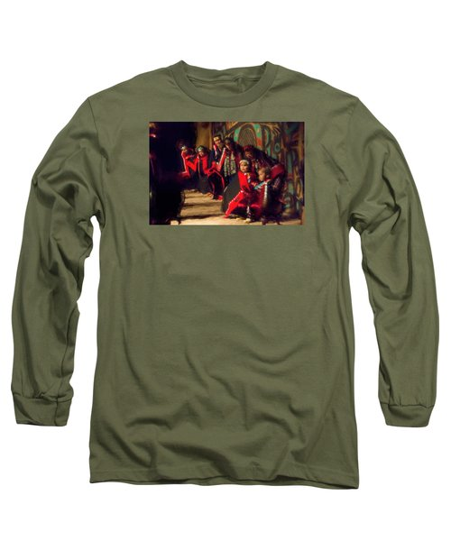 Native Dancers Long Sleeve T-Shirt by Lewis Mann