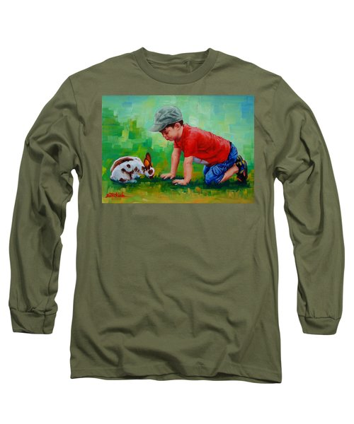 Long Sleeve T-Shirt featuring the painting Natural Wonder by Margaret Stockdale