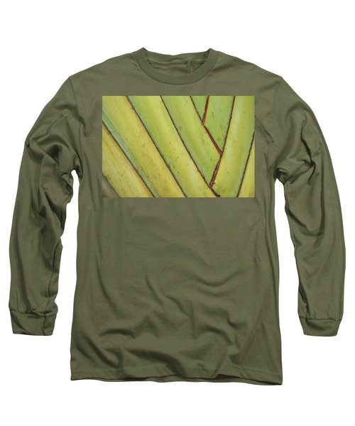 Nature Background, Green Leaves, Flowers In Natural Light And Sh Long Sleeve T-Shirt