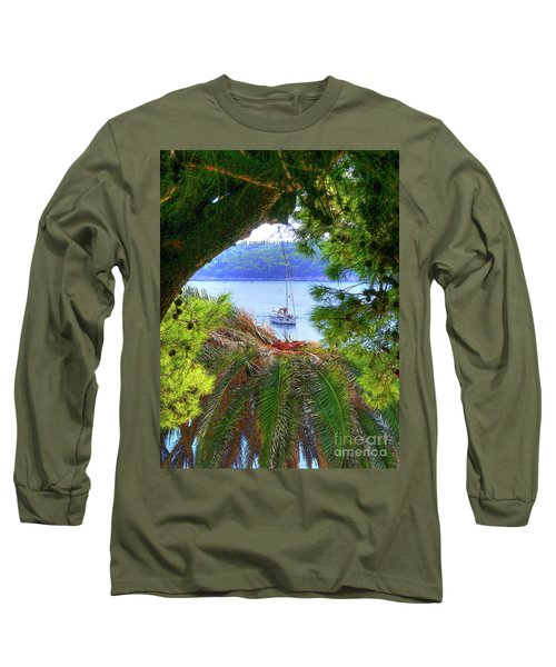 Nature Framed Boat Long Sleeve T-Shirt