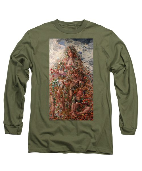 Nature Or Abundance Long Sleeve T-Shirt by Leon Frederic