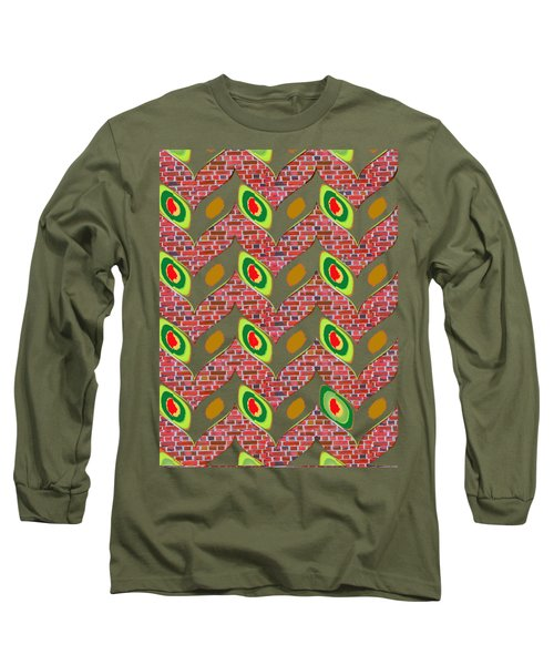 Nature Wonderful Creeper Leaves Leaf Show Up From Cavities Of Brick Tiles Navinjoshi Fineartamerica  Long Sleeve T-Shirt by Navin Joshi