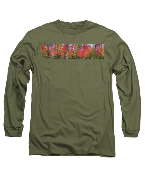 Long Sleeve T-Shirt featuring the photograph Natures Autumn Palette by David Patterson