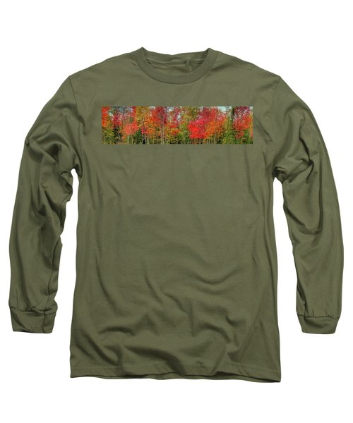 Long Sleeve T-Shirt featuring the photograph Natures Fall Palette by David Patterson