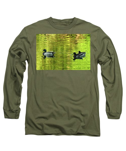 Long Sleeve T-Shirt featuring the photograph Nature's Impressionist Art No.3 by Janice Adomeit