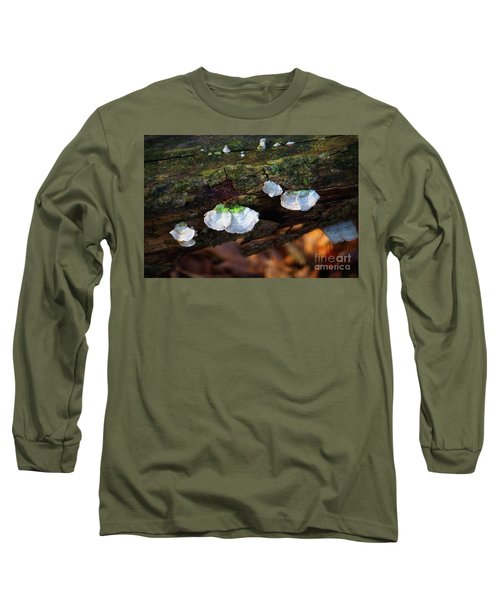 Long Sleeve T-Shirt featuring the photograph Natures Ruffles - Cascade Wi by Mary Machare