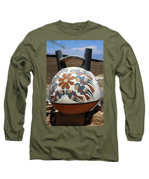 Long Sleeve T-Shirt featuring the photograph Nazca Ceramics Peru by Aidan Moran