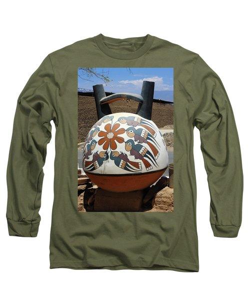 Nazca Ceramics Peru Long Sleeve T-Shirt by Aidan Moran
