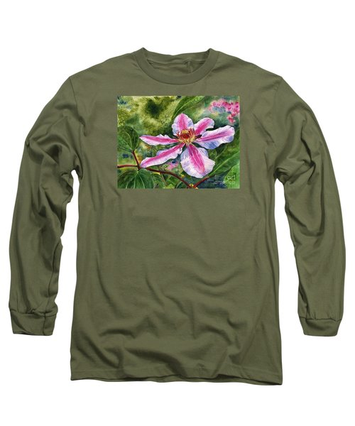 Nelly Moser Clematis Long Sleeve T-Shirt