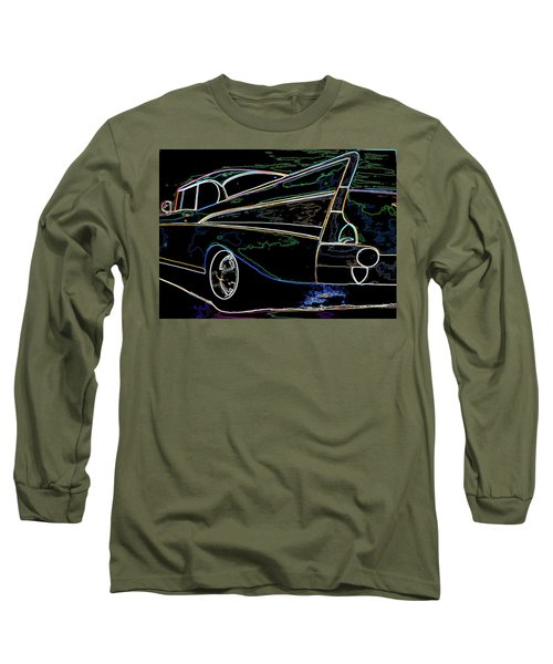 Neon 57 Chevy Bel Air Long Sleeve T-Shirt
