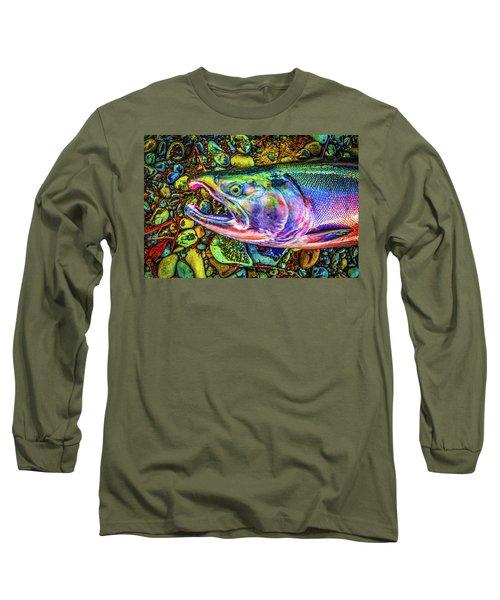 Neon Coho  Long Sleeve T-Shirt