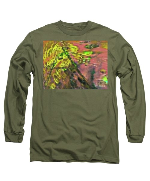 Neon Synapses Long Sleeve T-Shirt by Todd Breitling