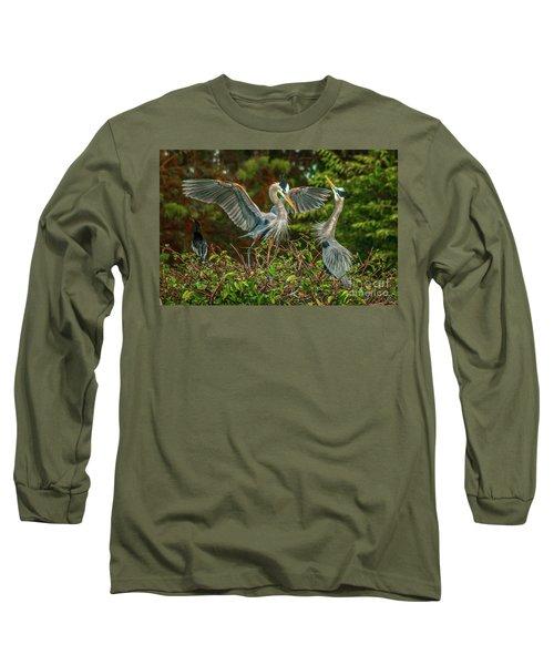 Nest Landing Long Sleeve T-Shirt by Tom Claud