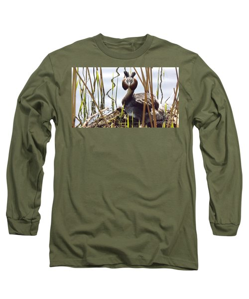 Nesting Grebe Long Sleeve T-Shirt