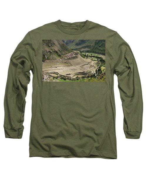 Nestled At The Foot Of A Mountain Long Sleeve T-Shirt