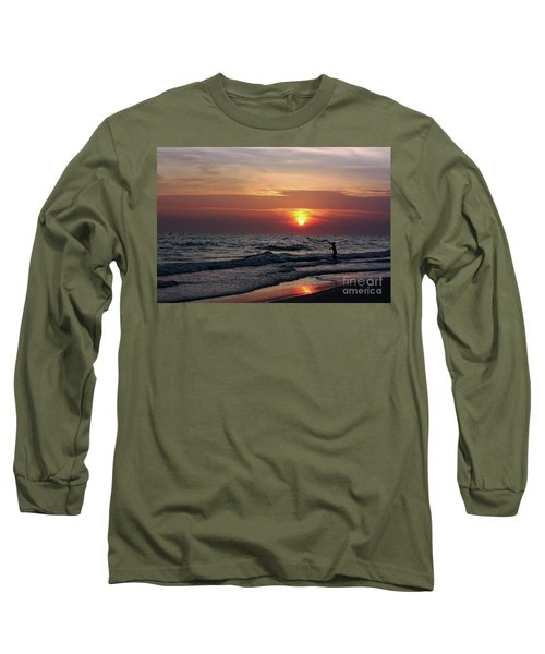 Long Sleeve T-Shirt featuring the photograph Net Casting by Terri Mills