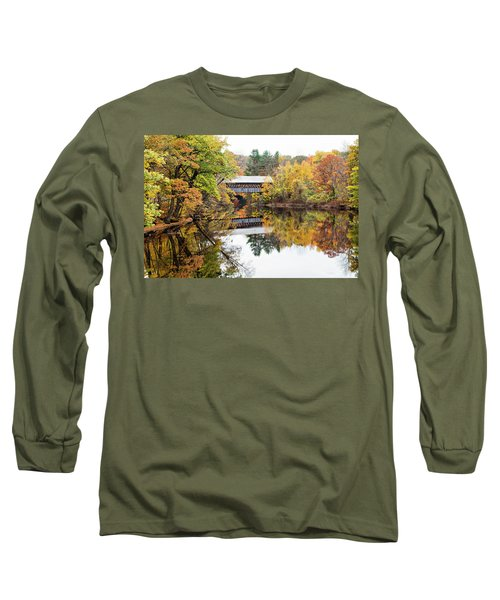 New England Covered Bridge No.63 Long Sleeve T-Shirt
