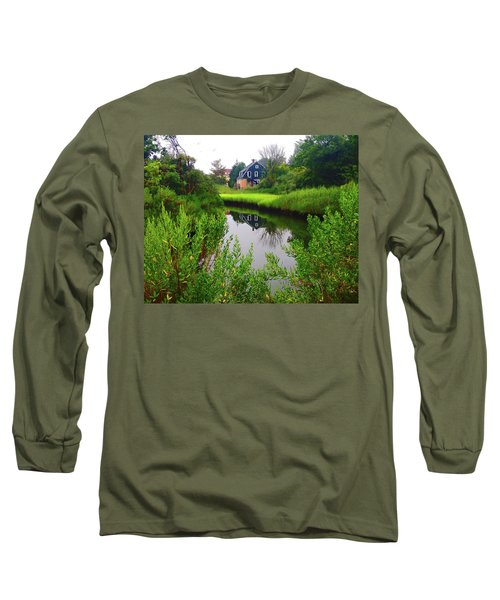 New England House And Stream Long Sleeve T-Shirt