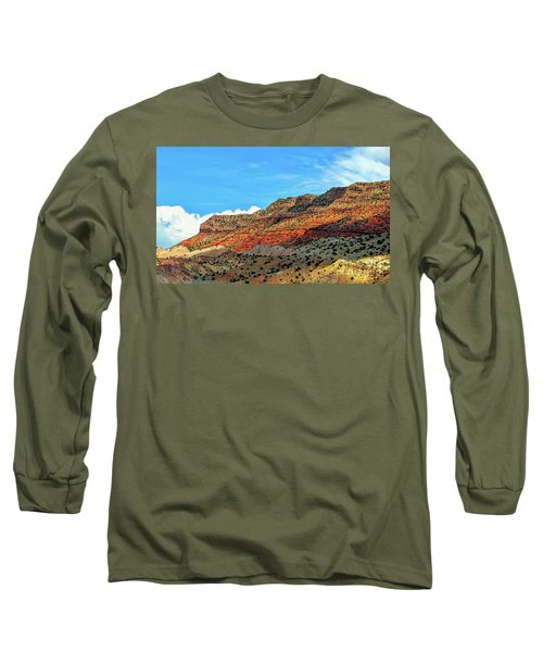 New Mexico Landscape Long Sleeve T-Shirt by Gina Savage