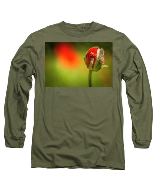 New Orange Poppy Bloom Long Sleeve T-Shirt