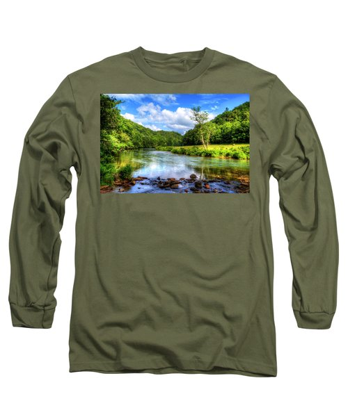 New River Summer Long Sleeve T-Shirt by Dale R Carlson