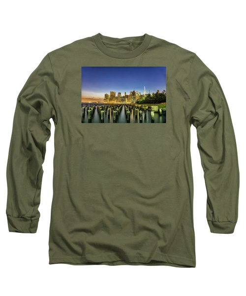 Long Sleeve T-Shirt featuring the photograph New York City From Brooklyn by Rafael Quirindongo