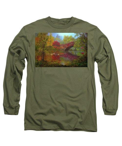 New York In Fall Long Sleeve T-Shirt