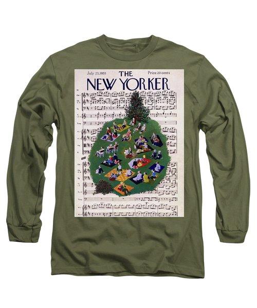 New Yorker July 23 1955 Long Sleeve T-Shirt