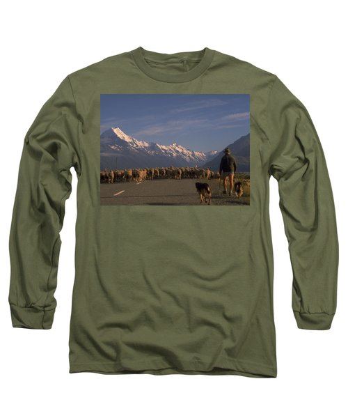 Long Sleeve T-Shirt featuring the photograph New Zealand Mt Cook by Travel Pics