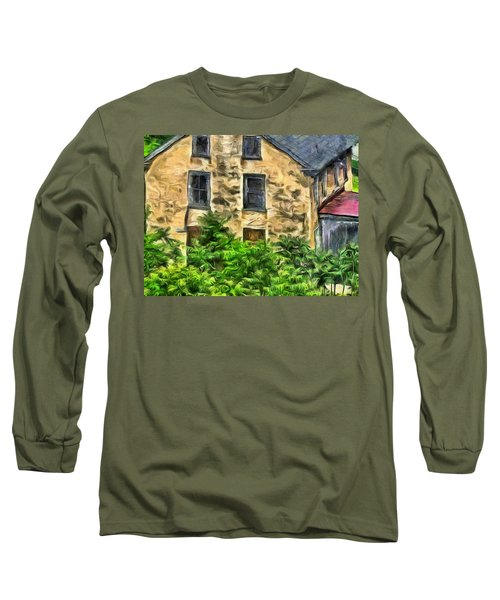Long Sleeve T-Shirt featuring the mixed media Niccolo by Trish Tritz