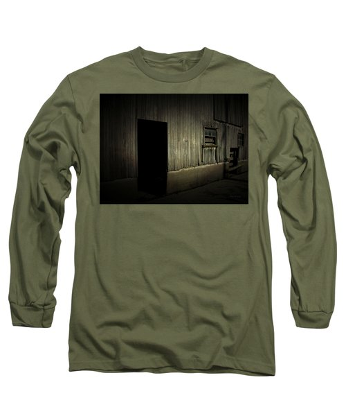 Night Barn Long Sleeve T-Shirt by Cynthia Lassiter