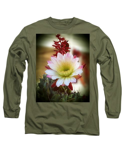 Long Sleeve T-Shirt featuring the photograph Night-blooming Cereus 2 by Marilyn Smith