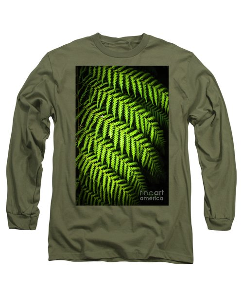 Night Forest Frond Long Sleeve T-Shirt