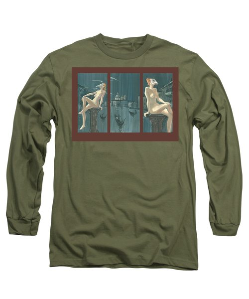 Night In Venice. Triptych Long Sleeve T-Shirt