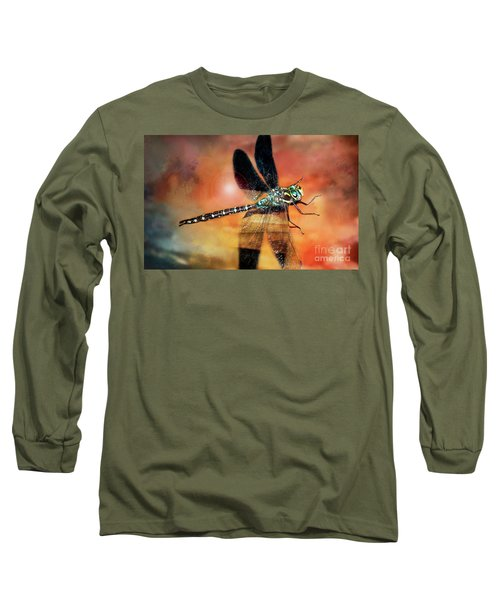 Night Light Of The Dragonfly Long Sleeve T-Shirt