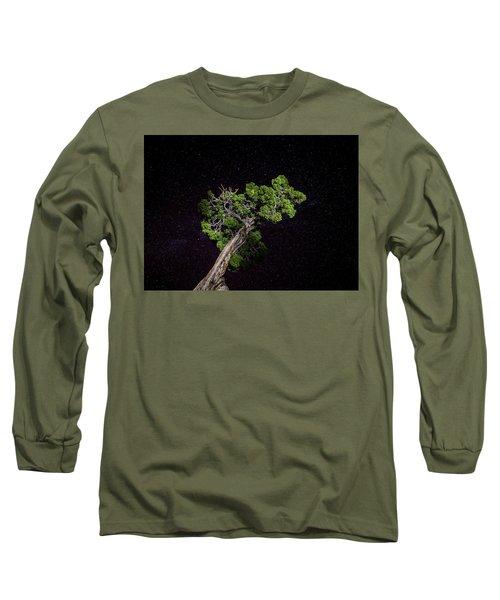 Night Tree Long Sleeve T-Shirt