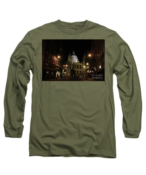 Night View Of St Pauls Cathedral  Long Sleeve T-Shirt