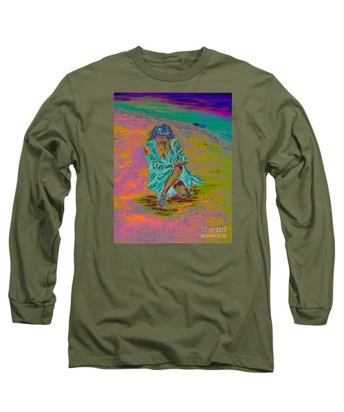 Long Sleeve T-Shirt featuring the painting No Surrender by Loredana Messina