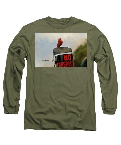 No Trespassing Long Sleeve T-Shirt by TnBackroadsPhotos