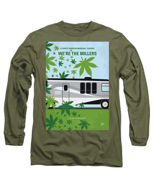 Long Sleeve T-Shirt featuring the digital art No763 My We Are The Millers Minimal Movie Poster by Chungkong Art