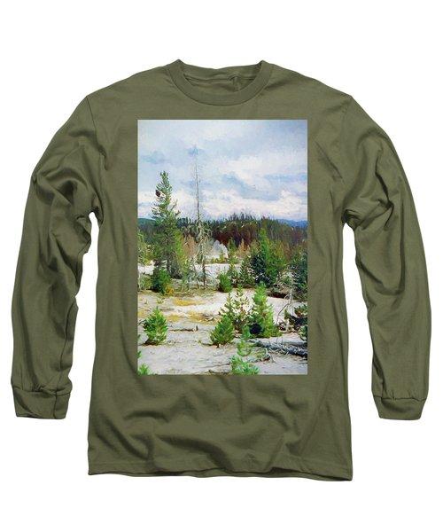 Norris Geyser Basin, Yellowstone National Park Long Sleeve T-Shirt