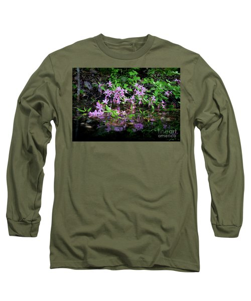 Norris Lake Floral 2 Long Sleeve T-Shirt by Douglas Stucky