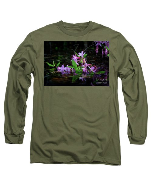 Norris Lake Floral Long Sleeve T-Shirt by Douglas Stucky