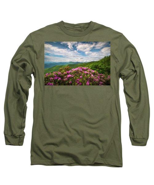 North Carolina Spring Flowers Mountain Landscape Blue Ridge Parkway Asheville Nc Long Sleeve T-Shirt