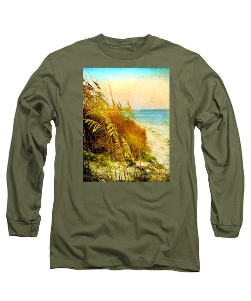 Long Sleeve T-Shirt featuring the digital art North Of River by Linda Olsen