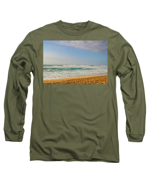 North Shore Waves In The Late Afternoon Sun Long Sleeve T-Shirt