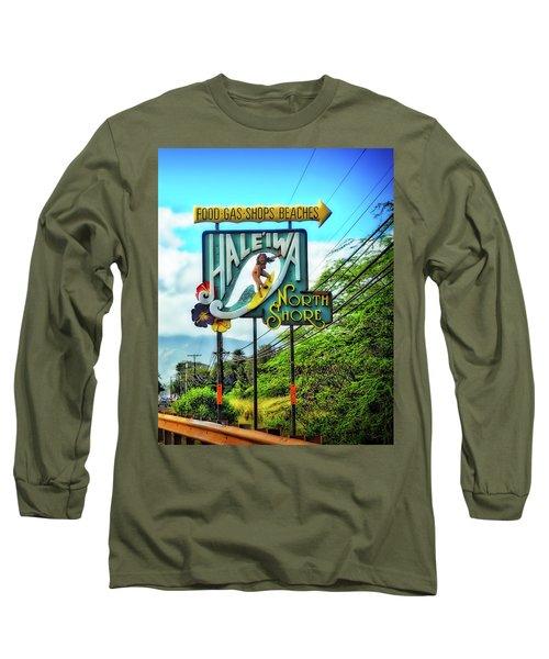 North Shore's Hale'iwa Sign Long Sleeve T-Shirt