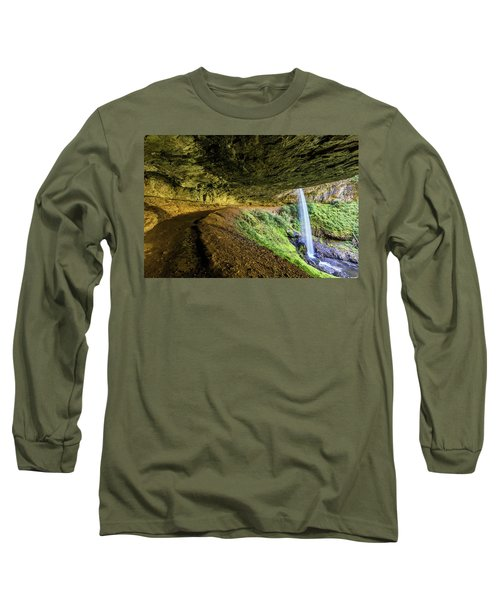 Long Sleeve T-Shirt featuring the photograph North Silver Falls Oregon by Pierre Leclerc Photography