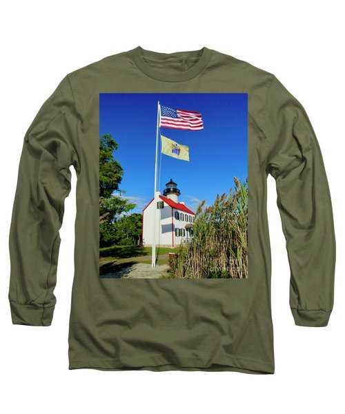North Wind At East Point Light Long Sleeve T-Shirt